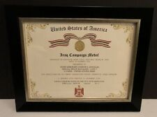 IRAQ CAMPAIGN MEDAL CERTIFICATE ~ With Free Printing (Any Branch)