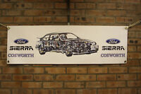 Ford Sierra RS 500 Cosworth  large pvc  WORK SHOP BANNER garage  SHOW