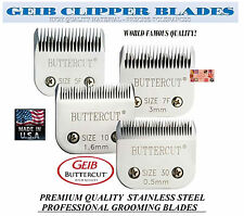 GEIB BUTTERCUT STAINLESS STEEL 4 pc BLADE SET*Fit Oster A5 A6,Most Andis Clipper