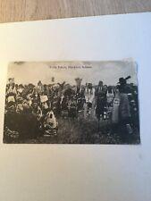 1907 Postcard Scalp Dance Blackfoot Indians  Montana Rarest Historical Tribe