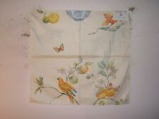 """Randolph Alexander """"Sayonara"""" parrot and butterfly vintage remnant color cream"""