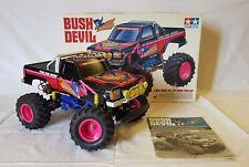 Tamiya Bush Devil 1:10 Monster Truck Off Road Pick up Box Kyosho Motor - Rare