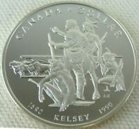 1990 CANADA UNC PROOF SILVER DOLLAR - Henry Kelsey Tricentennial