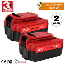 2 Pcs 6.0Ah For PORTER CABLE PCC685L PCC681L 20Volt Max Lithium-Ion 20V Battery