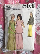STYLE 4545 sewing pattern 1974 COMPLETE vintage retro Teens Top Skirt Trousers