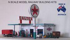 N Scale Caltex Garage Petrol Station Model Railway Building Kit - NCTS1