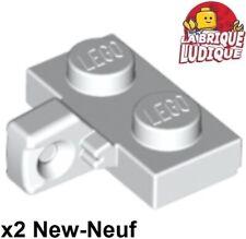 NEUF Lego groove 4x Charnière hinge plate lock 1x2 blanc//white 443032 44302a