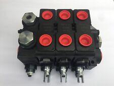 Parker Gresen Hydraulic Valve V20, 3 spool double acting spring return, SAE por