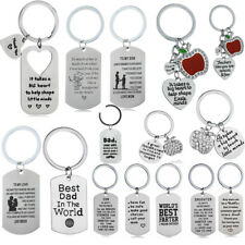 Son Keychain Pendant Charm Key Chain Keyring Family Gifts Mother Father Daughter