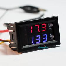 New DC 100V 10A Voltmeter Ammeter Blue Red LED Amp Dual Digital Volt Meter Gauge