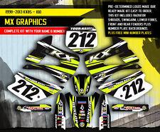 2001-2013 KX 85 100 GRAPHICS KIT KAWASAKI KX85 KX100 MOTOCROSS BIKE DECALS