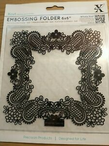 Docrafts X-Cut 6x6 Embossing Folder - stunning lattice