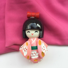 Japanese Folk Kimono Doll for Doll Home Decoration Traditional Wooden Crafts