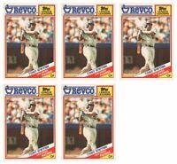 (5) 1988 Topps Revco League Leaders Baseball #1 Tony Gwynn Lot Padres