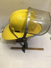 Safe T Helmet Super Chieftain Firefighter Helmet Yellow Safety Supply Co. Used