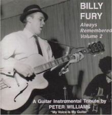 PETER WILLIAMS Billy Fury Always Remembered CD guitar instrumentals NEW tribute