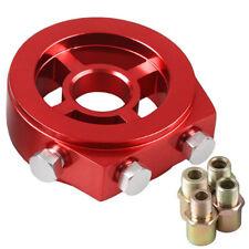"""Rojo Enfriador de aceite Filtro Placa Adaptador M20X1.5MM 3/4"""" 16 UNF 1/8"""" NPT"""