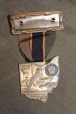 Original WW2 1941 Dated American Legion Youngstown Ohio Medal w/Ribbon, PB