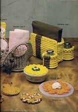 BOOK ONLY #MM271 Macrame Royale -Vintage Kitchen Napkin Holder Caddy Pattern