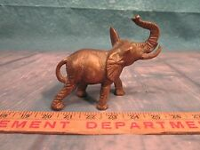 Penco brass elephant figurine good luck trunk up solid heavy