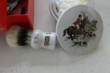 "Rooney ""Fox Run"" English Porcelain Shave Brush And Soap Bowl"
