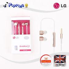 LG HSS-F631 QuadBeat3 Earphones Headphones Turned by AKG For V10 Rose Gold