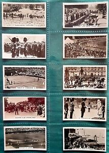 WILLS HOMELAND EVENTS 1932 SET OF CARDS 1-54-INC. BOBBY JONES AT ST ANDREWS