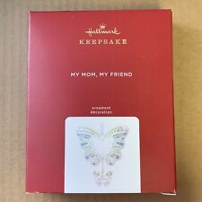 Hallmark 2020 My Mom My Friend Butterfly Porcelain Ornament Free Shipping