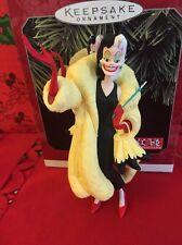 101 Dalmations Disney Hallmark Keepsake Christmas Cruella De Vil Ornament In Box