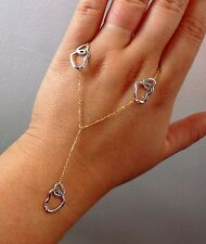 """New Lariat """"Y"""" Heart Pendant Necklace- 14K Multi-Tone Gold- 18"""" Chain- 3.6 grams"""