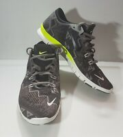Nike Free 5.0 TR Fit 4 Running Shoes Gray/Green Size 9.5 Women's