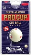 NEW SUPER ARAMITH PRO CUP CUE BALL 6 RED SPOTS TV BALL FREE SHIPPING