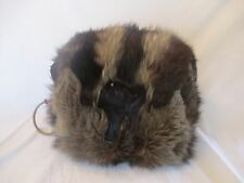 VINTAGE FISHER MUFF/HAND WARMER-CUTE FACE/2 FEET