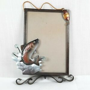 Fishing Themed Metal Picture-Frame Great First Fish Gift