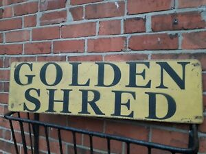 GOLDEN SHRED shop sign display mancave vintage restaurant CADBURYS RETRO