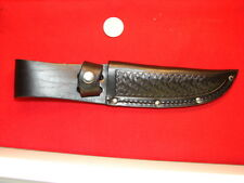 nice BLACK LEATHER SHEATH FOR HUNTING KNIFE 5 INCH BLADE    3208