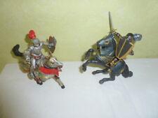 Figurine Chevalier Cavalier et Cheval PAPO Lot de 2