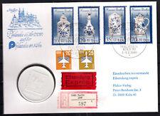 58) Numisbrief DDR, Meissener Porzellan als Expressbrief m. Porzellanmünze