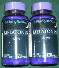 (2) Bottles Melatonin 10mg (120x2)  240 Total Tablets  Sleep Aid. Made in USA