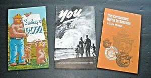 3 Smokey Bear Booklets---1962, '71, '95    Excellent!