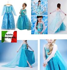 Frozen - Vestiti Carnevale Elsa 2-12 Y anni - Dress up Elsa Costumes  A789005-7