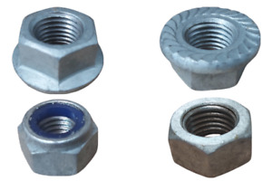 Hot Dipped Galvanised (HDG) Nuts - Hex / Flange / Nyloc M6 M8 M10 M12 M16