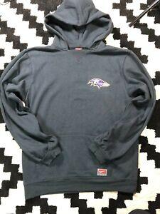 Team Nike Football Youth Baltimore Ravens Pullover Hoodie L 16-18 Black