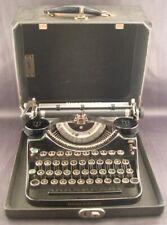 Antique Underwood Universal Portable Typewriter W/Case Model F F947923