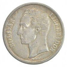 SILVER - WORLD Coin - 1945 Venezuela 2 Bolivares - World Silver Coin *844