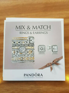 Genuine PANDORA Mix & Match Rings & Earrings Catalog Booklet 13177- FREE post