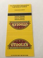 Vintage Matchbook Cover Matchcover O'Toole's Roadhouse Restaurant