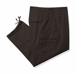 TRU-SPEC Men's Wide Leg Polyester Cotton Rip Stop BDU Trouser Pant (Brown, XS)