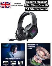 Gaming Headset PS4 Xbox PC 7.1 Surround Sound Wired with Noise Cancelling Mic