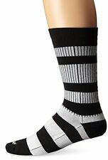 Wigwam Men's Channel Black and White Casual Crew Socks,Black/White,Medium/shoe S